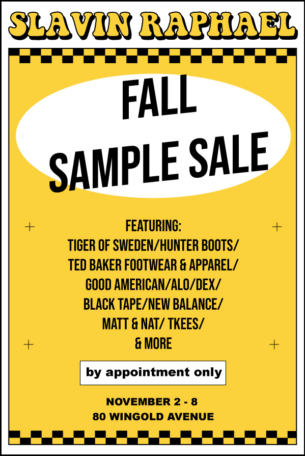 Slaven Raphael Fall Sample Sale